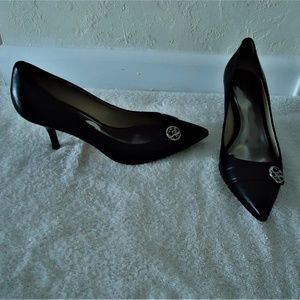 COACH Leather Silver Medallion Zelda Pump 8M NEW!